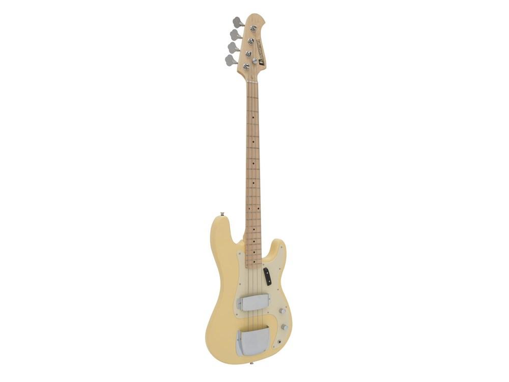 Dimavery PB-550, elektrická baskytara, béžová
