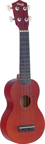 Stagg US10 TATTOO, sopránové ukulele, přírodní s dekorem tetování