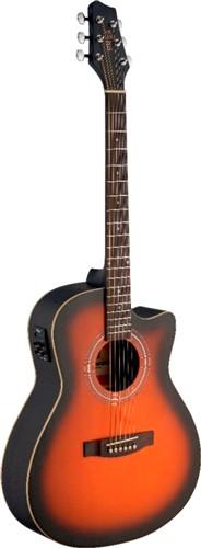 Fotografie Stagg SA30ACE-BS, elektroakustická kytara