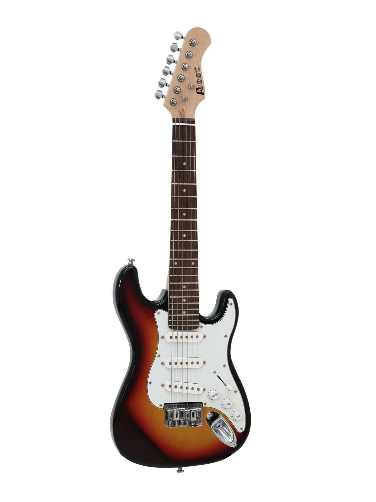 Dimavery J-300 elektrická kytara Junior, černá