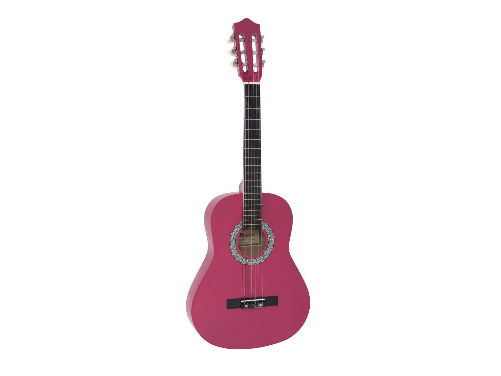 Dimavery AC-303 klasická kytara 3/4, růžová