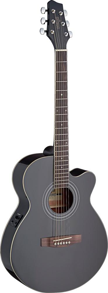 Elektroakustická kytara Mini Jumbo s výkrojem a elektronikou FISHMAN, BK